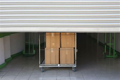 Storage boxes in container